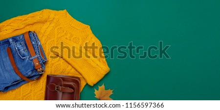 Warm knitted, autumn, winter clothes Stock photo © Lana_M