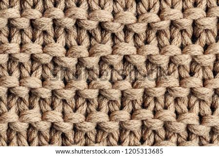 ブラウン 編まれた 木製 スカーフ 背景 冬 ストックフォト © marylooo