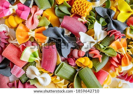 Assorted colorful italian pasta Stock photo © Melnyk
