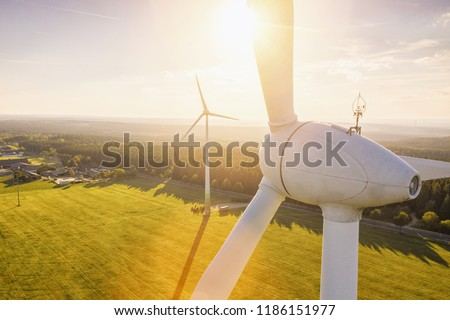 風車 · 1泊 · スペイン · 月 · 旅行 · 暗い - ストックフォト © pedrosala