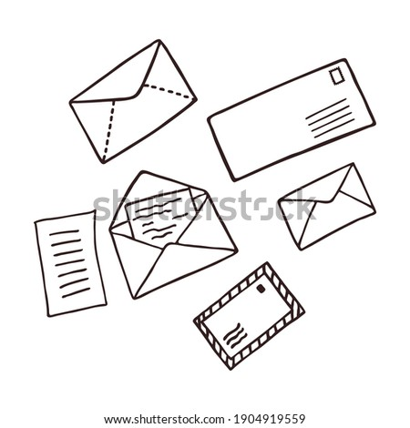 Office Banner and Message Envelope Set Vector Stock photo © robuart
