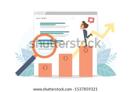 Analítica stand icono color diseno negocios Foto stock © angelp