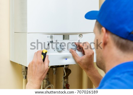 Servicing heating and water systems Stock photo © nomadsoul1