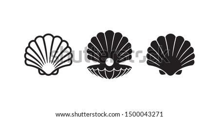 Powłoki wektora ikona ilustracja szablon plaży Zdjęcia stock © Ggs