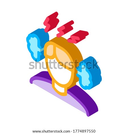 Man Ear Steam isometric icon vector illustration Stock photo © pikepicture