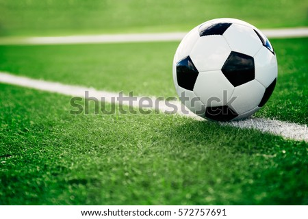 Soccer Ball on the Grass Stock photo © AlphaBaby