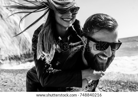 Black-white photo of a couple Stock photo © konradbak