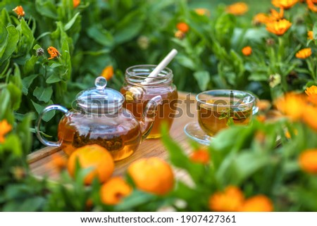two tangerine in the glass stock photo © taden