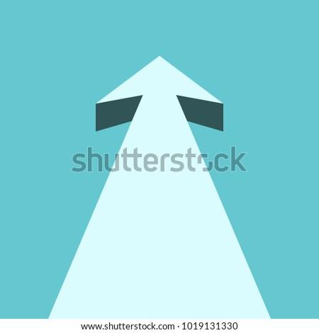 3d arrow pointing up in the sky Stock photo © digitalgenetics