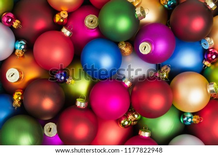 Christmas Baubles Line Up Stock photo © frannyanne