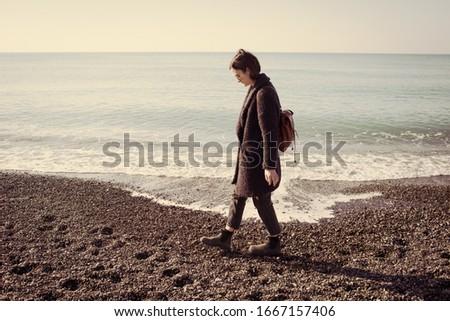 çakıl plaj 40 su arka plan yaz Stok fotoğraf © LianeM