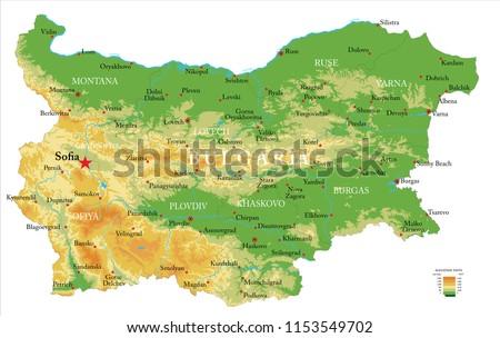 Térkép Bulgária zöld utazás vektor Stock fotó © rbiedermann