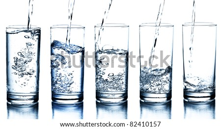 Vidrio agua blanco resumen fondo azul Foto stock © master1305