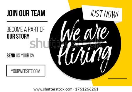Hire Us Yellow Vector Icon Design Stock photo © rizwanali3d