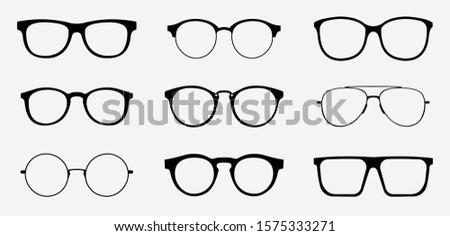 Icons with eyeglasses Stock photo © bluering