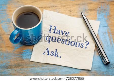 Pergunta responder branco isolado negócio Foto stock © Oakozhan