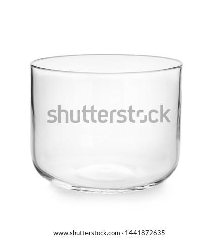 Modern üveg tál fehér edény üres Stock fotó © Digifoodstock