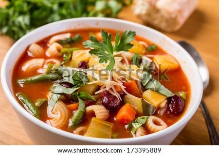 макароны · суп · чаши · белый · никто - Сток-фото © monkey_business