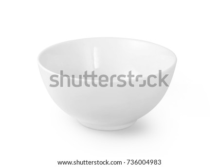 White ceramic bowl and dish Stock photo © homydesign