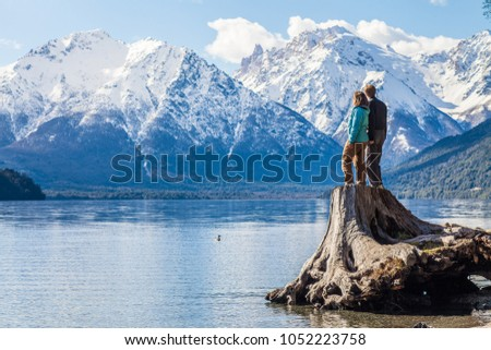 Couple admiring view Stock photo © IS2