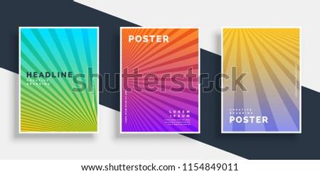 Vibrante folletos folleto establecer Foto stock © SArts