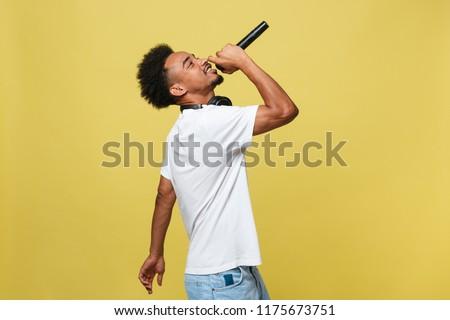 Music Performance Man Expressing Singing Isolated Stock photo © robuart