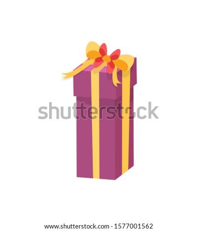 Cumpărături cutie mătase bandă arc Imagine de stoc © robuart