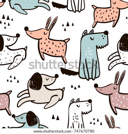 Naadloos hond illustratie dog bone papier natuur Stockfoto © colematt