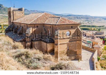 Colegiata de Bolea, Aragon Stock photo © LianeM