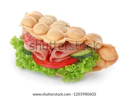 Sandwiches gerookt worst eigengemaakt gezouten komkommers Stockfoto © Melnyk