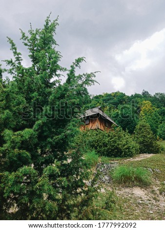 Old traditional house at Sopotnica village in Serbia Stock photo © boggy