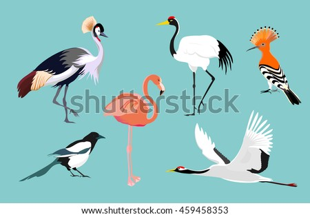 flying royal crane stock photo © elenarts