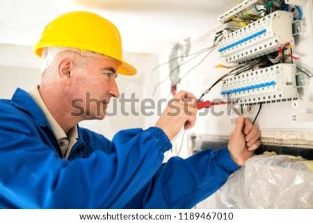 senior electrician stock photo © brebca