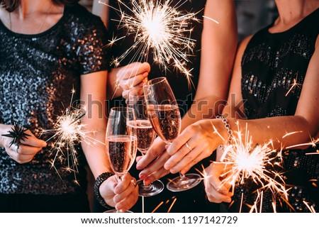 Cute новых лет вечеринка вектора женщину Сток-фото © glyph