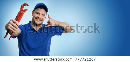 Artesão chamar assinar telefone contato Foto stock © photography33