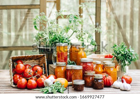 vegetable paste in glass jars Stock photo © Mikko