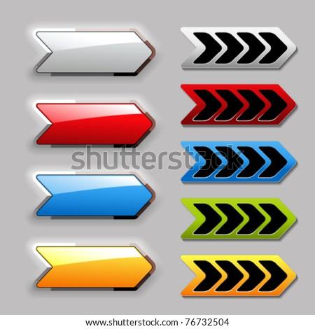 Blank Button - Arrowhead Stock photo © cteconsulting
