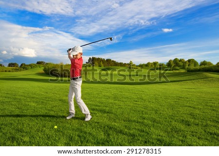 boy with golf stock photo © zzve