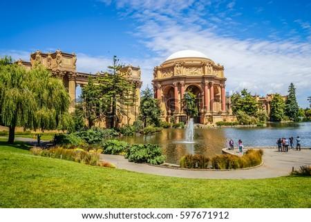 Pałac San Francisco California niebo wody Zdjęcia stock © hanusst