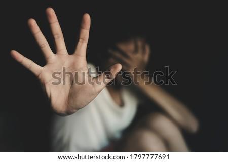 停止 暴力 女性 実例 女性 女性 ストックフォト © adrenalina