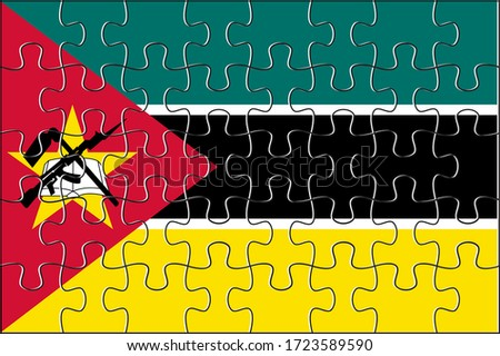 European Union and Mozambique Flags in puzzle Stock photo © Istanbul2009