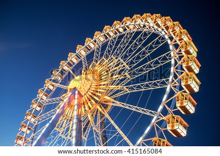 Stock photo: ferris wheel by night