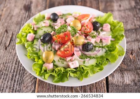 jambon · domates · sandviç · taze · sağlıklı - stok fotoğraf © digifoodstock