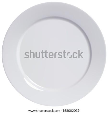 branco · jantar · prato · contemporâneo · limpar · prato - foto stock © Digifoodstock