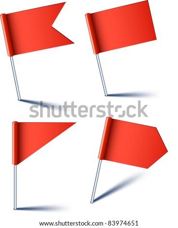 Znacznik banderą Pokaż biały papieru świat Zdjęcia stock © Ecelop