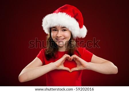 Дед Мороз красный формы сердца музыку Сток-фото © wavebreak_media