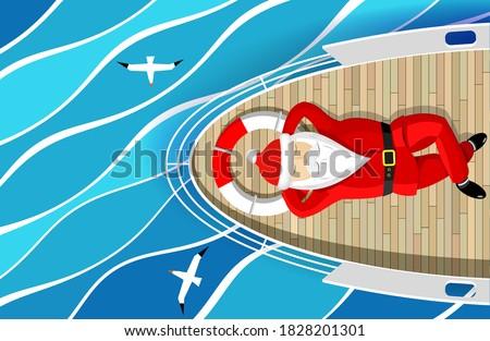 Surprised Cartoon Sea Captain Stock photo © cthoman