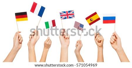 Angol zászló izolált fehér Anglia zászló háromdimenziós Stock fotó © daboost