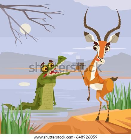 Surprised Cartoon Antelope Stock photo © cthoman