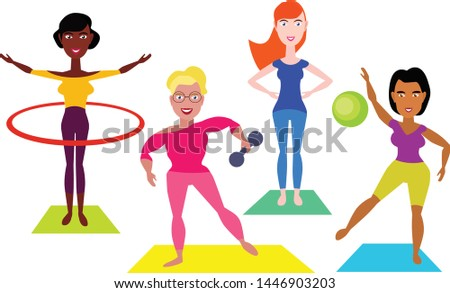 People doing different types of sports on white background Stock photo © bluering